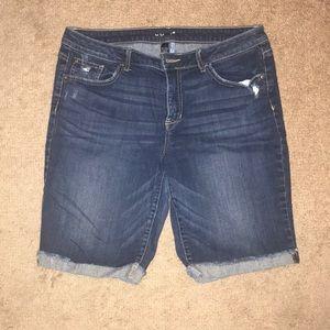 Apt 9 bermuda denim shorts
